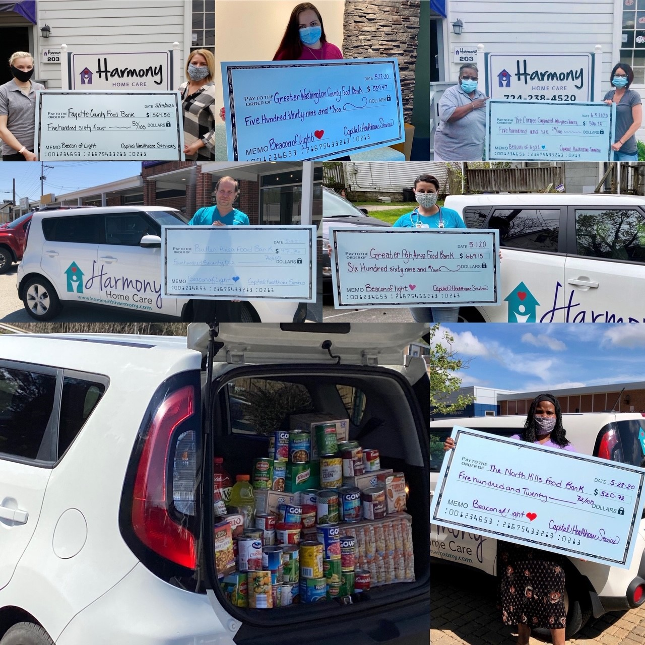 Bringing Harmony to Local Food Banks through Beacon of Light Campaign